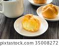 奶油泡芙 甜点 甜品 35008272