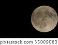 滿月 月夜 月亮 35009063