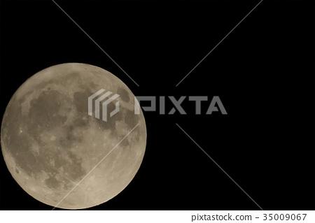 滿月 月夜 月亮 35009067