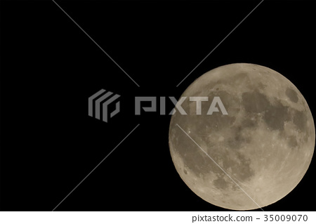 滿月 月夜 月亮 35009070