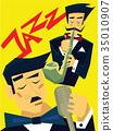 爵士乐 音乐 海报 35010907