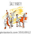 jazz, band, poster 35010912