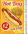food, hot, dog 35011830