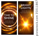 light, glow, banner 35011867