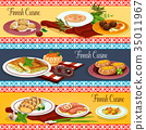 Finnish cuisine restaurant menu banner set design 35011967