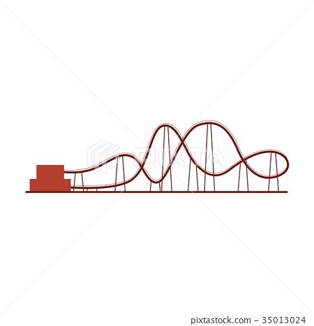 Roller coaster, rollercoaster ride in amusement 35013024
