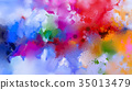 Abstract colorful oil painting on canvas texture. 35013479