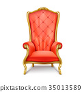 Luxurious royal red throne realistic vector 35013589