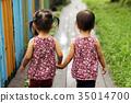手牽手 姊妹 雙胞胎 35014700