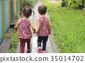 手牽手 姊妹 雙胞胎 35014702