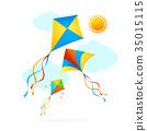 kite, sky, vector 35015115