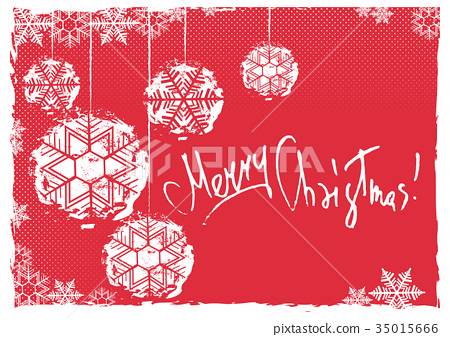 Greeting card with Christmas balls 35015666