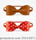 Realistic 3d Bow Tie Set. Vector 35015671