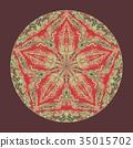 Colorful watercolor mandala. Oriental vintage 35015702