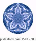Colorful watercolor mandala. Oriental vintage 35015703
