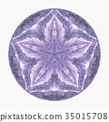 Colorful watercolor mandala. Oriental vintage 35015708