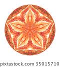 Colorful watercolor mandala. Oriental vintage 35015710