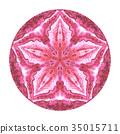 Colorful watercolor mandala. Oriental vintage 35015711
