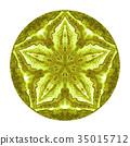 Colorful watercolor mandala. Oriental vintage 35015712