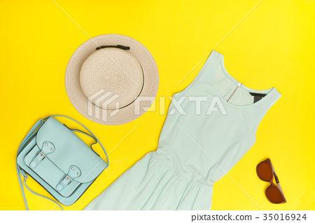 Fashionable concept. Female summer wardrobe 35016924