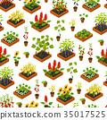 植物 背景 花紋 35017525