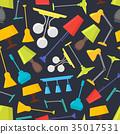 Cartoon Home Illumination Lamp Color Background 35017531