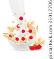 bowl, grain, milk 35017706