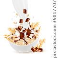 grain, milk, bowl 35017707