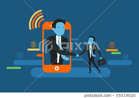 On line deal. Business concept illustration. 35019020