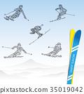 滑雪 滑雪者 雪山 35019042