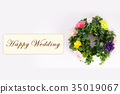 Happy Wedding wreath celebration 35019067