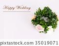 Happy Wedding wreath celebration 35019071