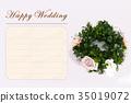 Happy Wedding wreath celebration 35019072