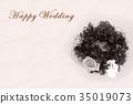 Happy Wedding wreath celebration 35019073