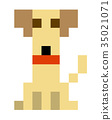 illustration, pixel, vector 35021071