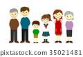Three generations family 35021481