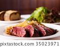 스테이크, 감자, 고기 요리 35023971