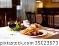 요리, 고기 요리, 레스토랑 35023973