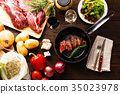 요리, 식자재, 고기 요리 35023978