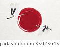 感觉日本纸日本旗子起重机纹理的例证 35025645
