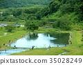 fish, pond, fishing 35028249