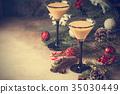 Traditional winter eggnog 35030449