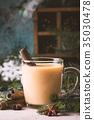 Traditional winter eggnog 35030478