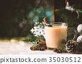 Traditional winter eggnog 35030512