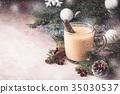 Traditional winter eggnog 35030537