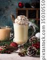 Traditional winter eggnog 35030550