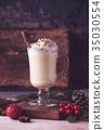 Traditional winter eggnog 35030554