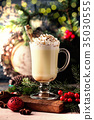 Traditional winter eggnog 35030555