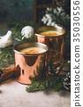 Traditional winter eggnog 35030556