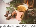 Traditional winter eggnog 35030558